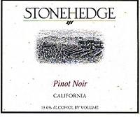 Stonehedge Pinot Noir California